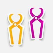 realistic design element: nippers - stock illustration