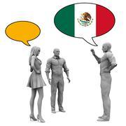 Learn Spanish - stock illustration