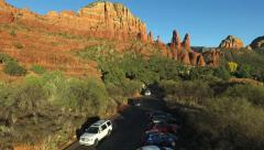 Road and tourist traffic in Sedona Arizona Stock Footage