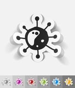 Stock Illustration of realistic design element. virus