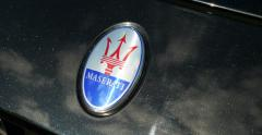 View of a Maserati logo Stock Footage