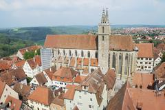 View over the mediaval town Rothenburg ob der Tauber Stock Photos