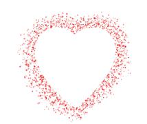 blank colorful symbol valentine day heart shape for text isolated on white ba - stock illustration