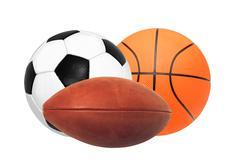 Sports balls isolated on white Stock Photos