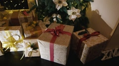 Lots of gifts for Christmas Stock Footage