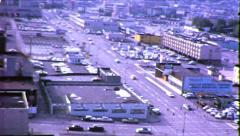 Seattle Monorail Urban Cityscape Regrade Vintage Film Home Movie 8695 Stock Footage