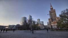 Warsaw citylife  time lapse in full HD. - stock footage