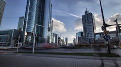 Warsaw citylife  time lapse. - stock footage