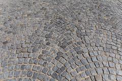 Stock Photo of patterned paving tiles