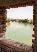 River Adige in Verona Stock Photos