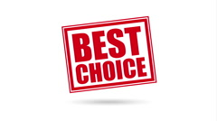 Best choice design, Video Animation Stock Footage