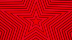 Star loop geometric colorful expanding shape background red Stock Footage