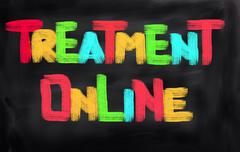Treatment Online Concept - stock illustration