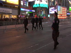 Occupy Wall Street protest in Times Square Stock Footage