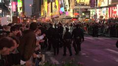 Occupy Wall Street demonstration in Times Square Stock Footage