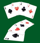 Four aces playing cards Stock Illustration