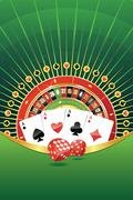 Stock Illustration of Abstract background with gambling elements