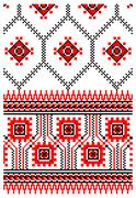 Ukrainian embroidery ornament Stock Illustration