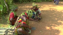 Papuan tribal music Stock Footage