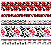 Ukrainian embroidery ornament Stock Illustration