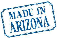 Arizona - made in blue vintage isolated label Stock Illustration