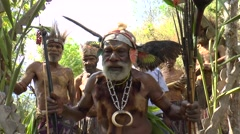 Native man in costume - stock footage
