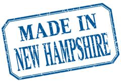 New Hampshire - made in blue vintage isolated label Stock Illustration