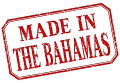 The Bahamas - made in red vintage isolated label Stock Illustration