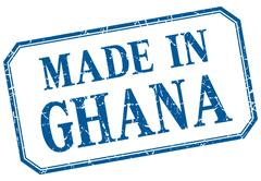 Stock Illustration of Ghana - made in blue vintage isolated label