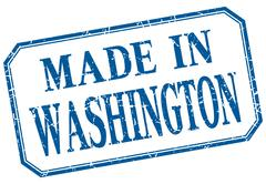 Washington - made in blue vintage isolated label Stock Illustration