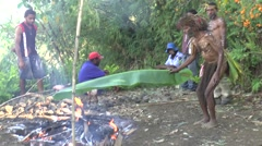 Mumu traditional Papua new Guinean way Stock Footage