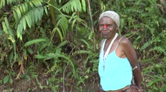 Papua N. Guinean woman smiling at the camera Stock Footage
