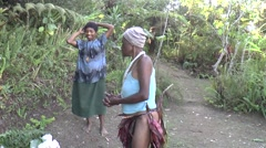 Papua New Guinean woman smiling at the camera Stock Footage