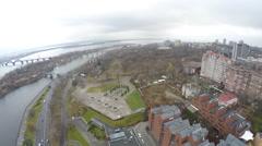 Aerial shots Ukraine Dnepropetrovsk DJI Phantom Stock Footage