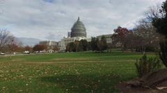 United States Capitol under renovation. Stock Footage