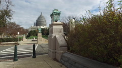 United States Capitol Building under renovation. Stock Footage