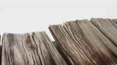 Aged wood structure motion 4k backdrop Stock Footage