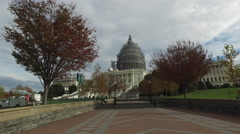 United States Capitol under renovation, 4K - stock footage
