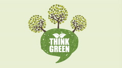Think green design, Video Animation Stock Footage