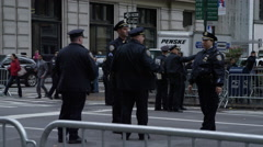 NYPD Standing around at parade Stock Footage