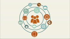 Social Media design, Video Animation Stock Footage