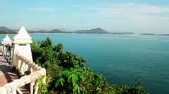 Thailand, Samui. Lookout Point, view of beach area Stock Footage