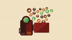 Cinema Icon Design, Video Animation Stock Footage