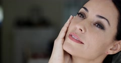 Gorgeous sensual woman with dreamy eyes - stock footage