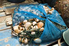Fishing net will be dried in a small village in Koh Chang, Thailand Stock Photos