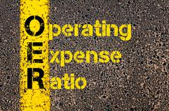 Accounting Business Acronym OER Operating Expense Ratio - stock photo