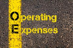 Accounting Business Acronym OE Operating Expenses Stock Photos