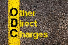 Accounting Business Acronym ODC Other Direct Charges - stock photo