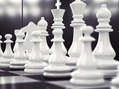 Chess as business game - stock photo