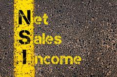 Stock Photo of Business Acronym NSI Net Sales Income